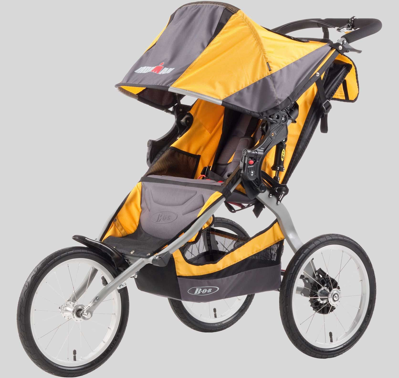 Ironman Yellow Jogging stroller, Running with stroller