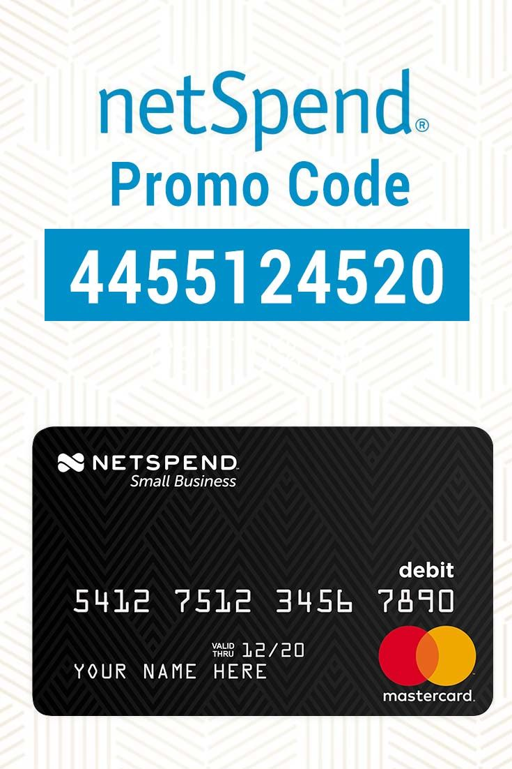 NetSpend Promo Code Use 4455124520 for 20 free cash