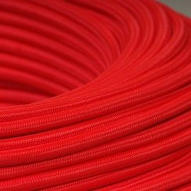 CABLE TEXTILE ROUGE