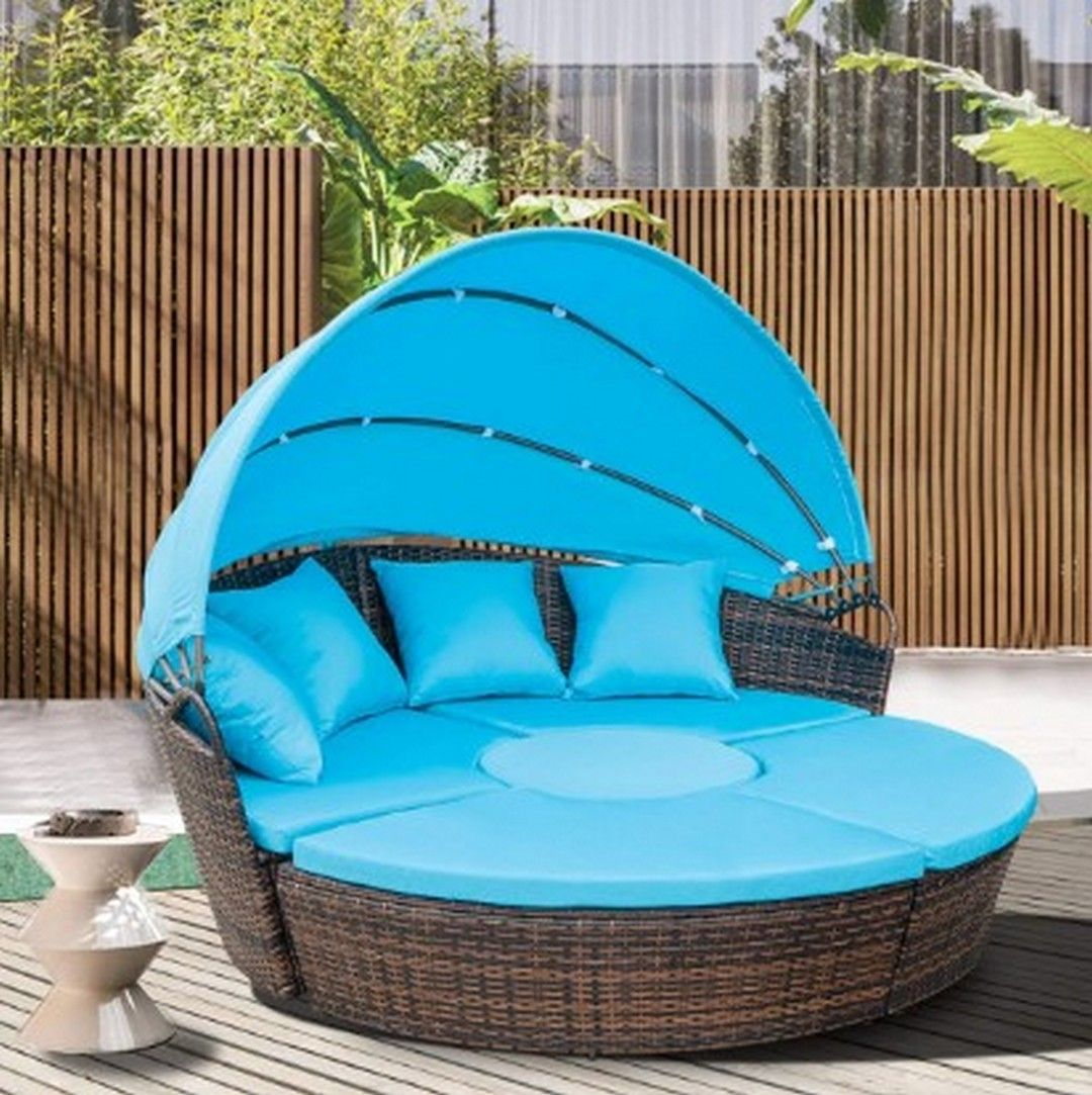 7 A Colorful Daybed Outdoor That Is Full Of Beauty Outdoor Daybed Cushion Poolside Furniture Outdoor Daybed