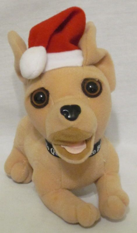 Applause Taco Bell Chihuahua Sound Santa Hat Yo Quiero Dog Stuffed