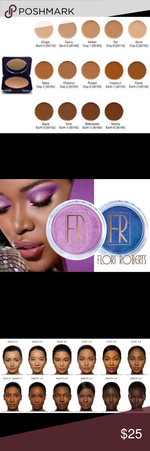 Flori Roberts Cream to Power Foundation all shades NWT