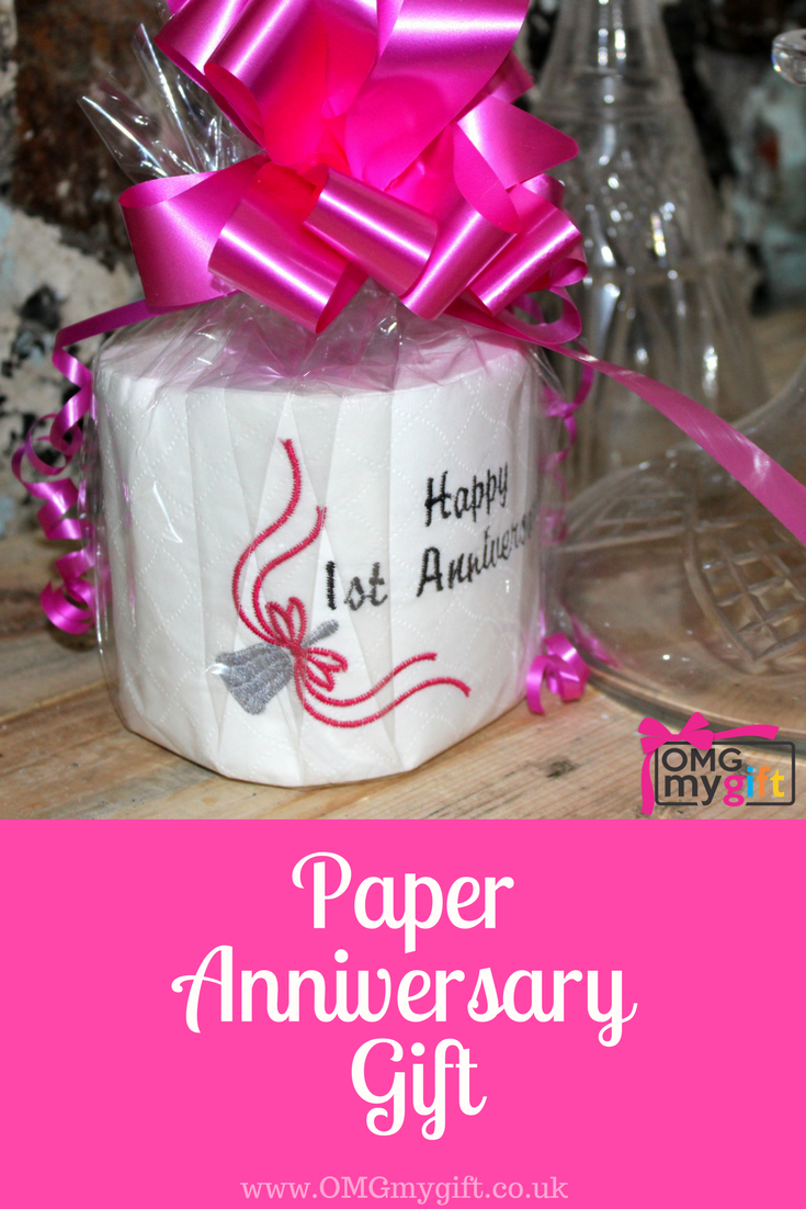 The ideal First Anniversary Gift. Novelty embroidered toilet roll ...