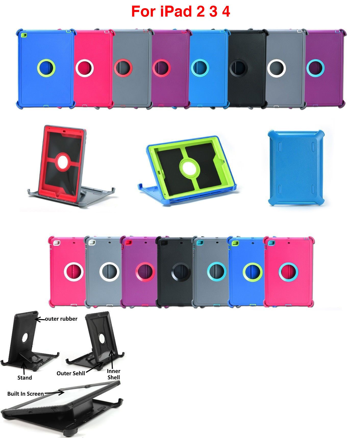 sports shoes 6f1de c51b9 Cases Covers Keyboard Folios 176973: For Apple Ipad 2 3 4 Th Gen ...