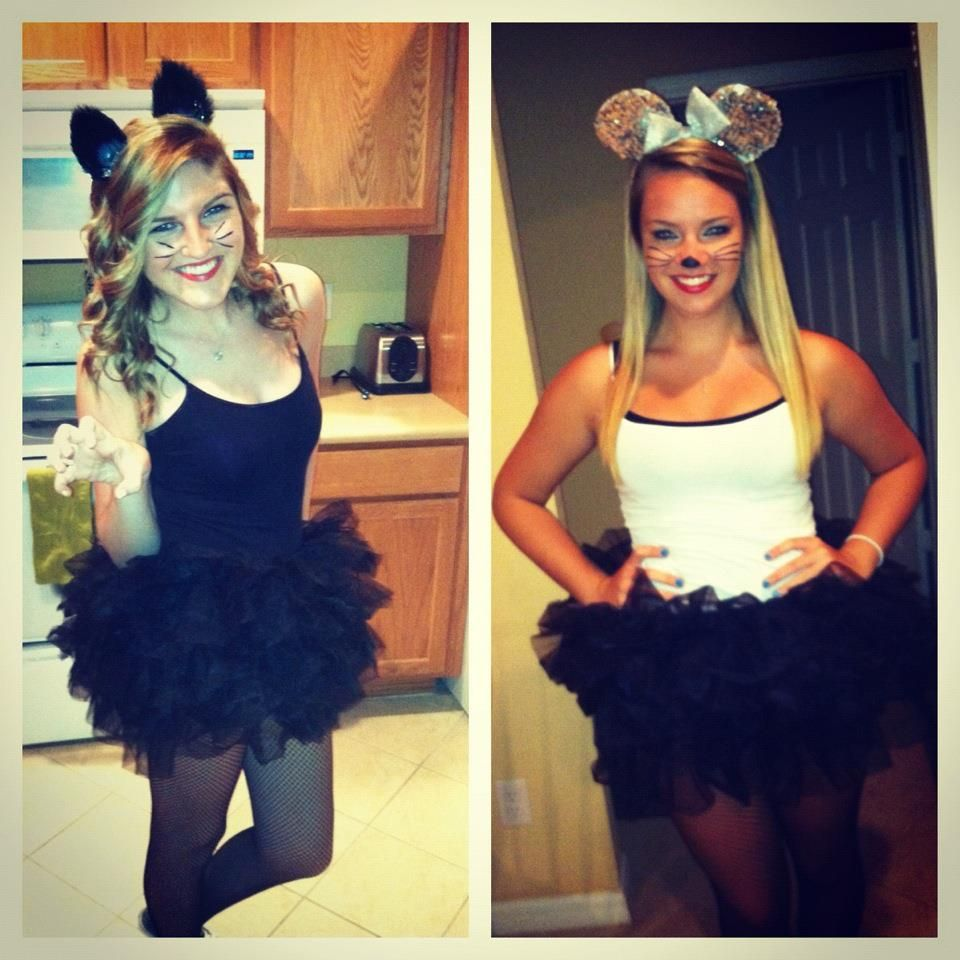cat and mouse couples costume