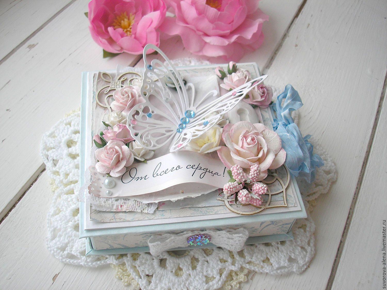 Открытка с коробочкой с днем рождения