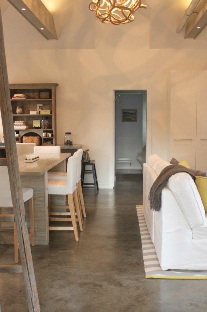 betonboden im wohnbereich als eine tolle alternative zur bodengestaltung interieur pinterest. Black Bedroom Furniture Sets. Home Design Ideas