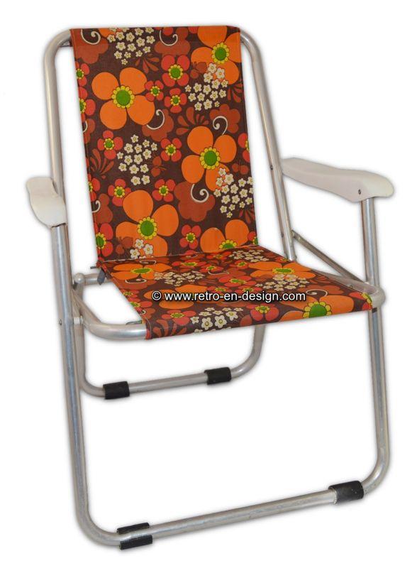 Chaise de camping ou chaise pliante, vintage des années 70