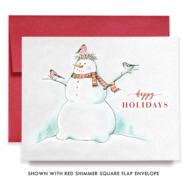 Snowman Boxed Holiday Cards Ember (With images