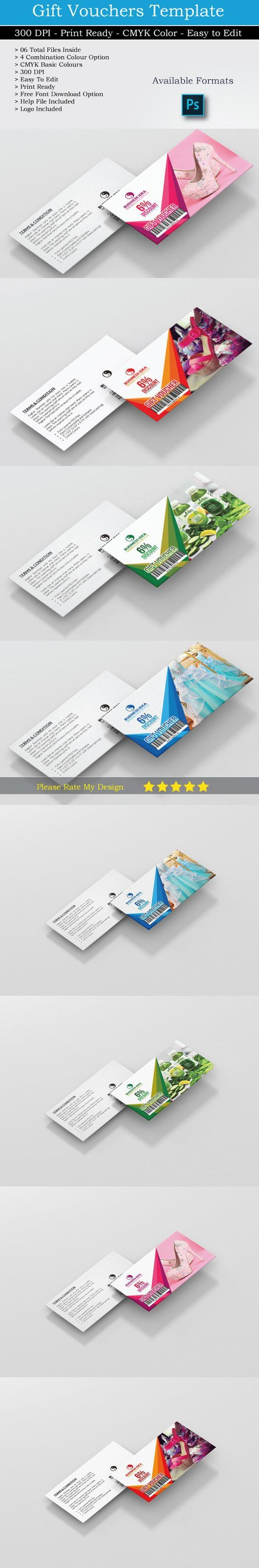 Gift Voucher Card Psd Updated Card Templates Gift Card Template