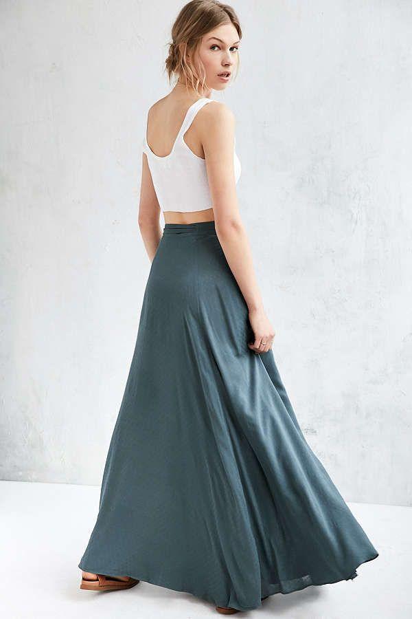 ca500aa69bb8 Ecote Zella Boho Wrap Maxi Skirt   Wraps   Skirts, Wraps, High ...