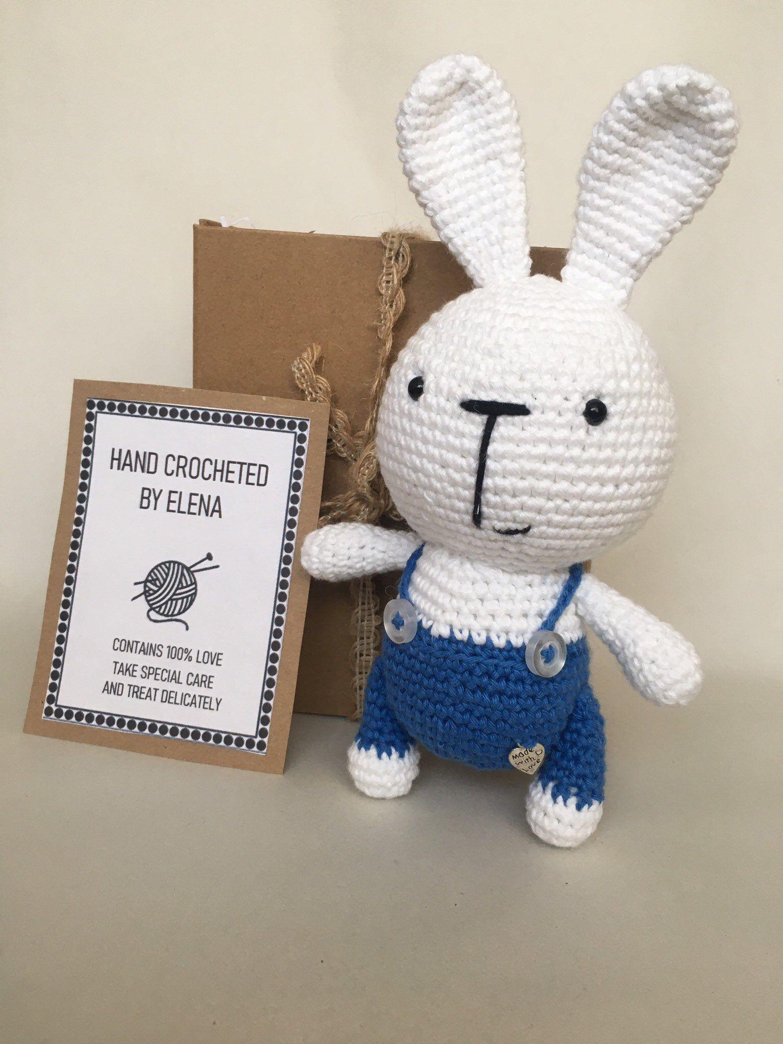 Crochet little bunny stuffed toy gift homemade decor