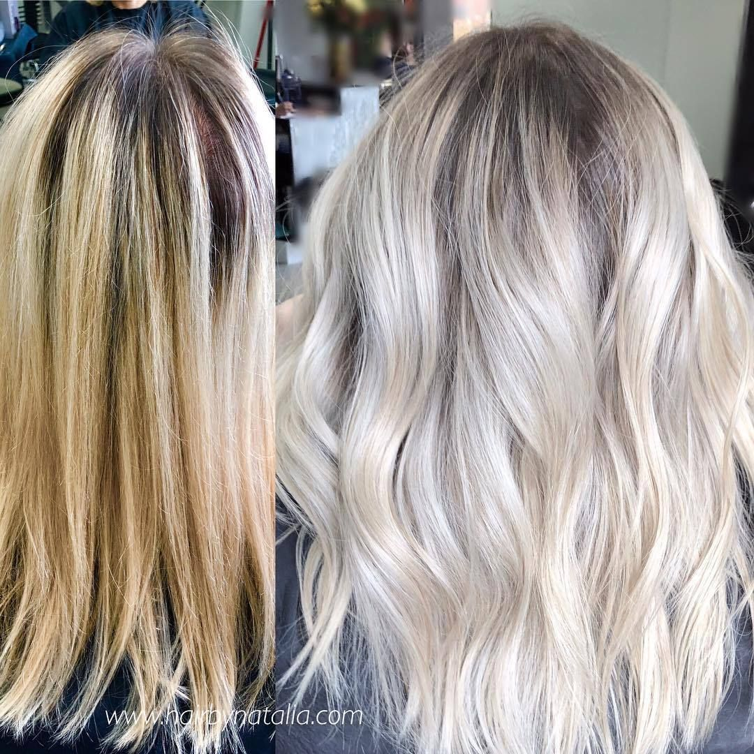 Color Melt Or Root Melt With A Toner Sometimes Less Is More The Root Melt Fixed The Line Of Demarcation Balayage Hair Blonde Hair With Roots Icy Blonde Hair