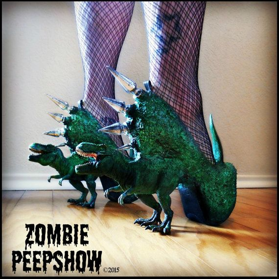 Hey, I found this really awesome Etsy listing at https://www.etsy.com/listing/232300727/t-rex-jurassic-pump-dinosaur-spike-heels