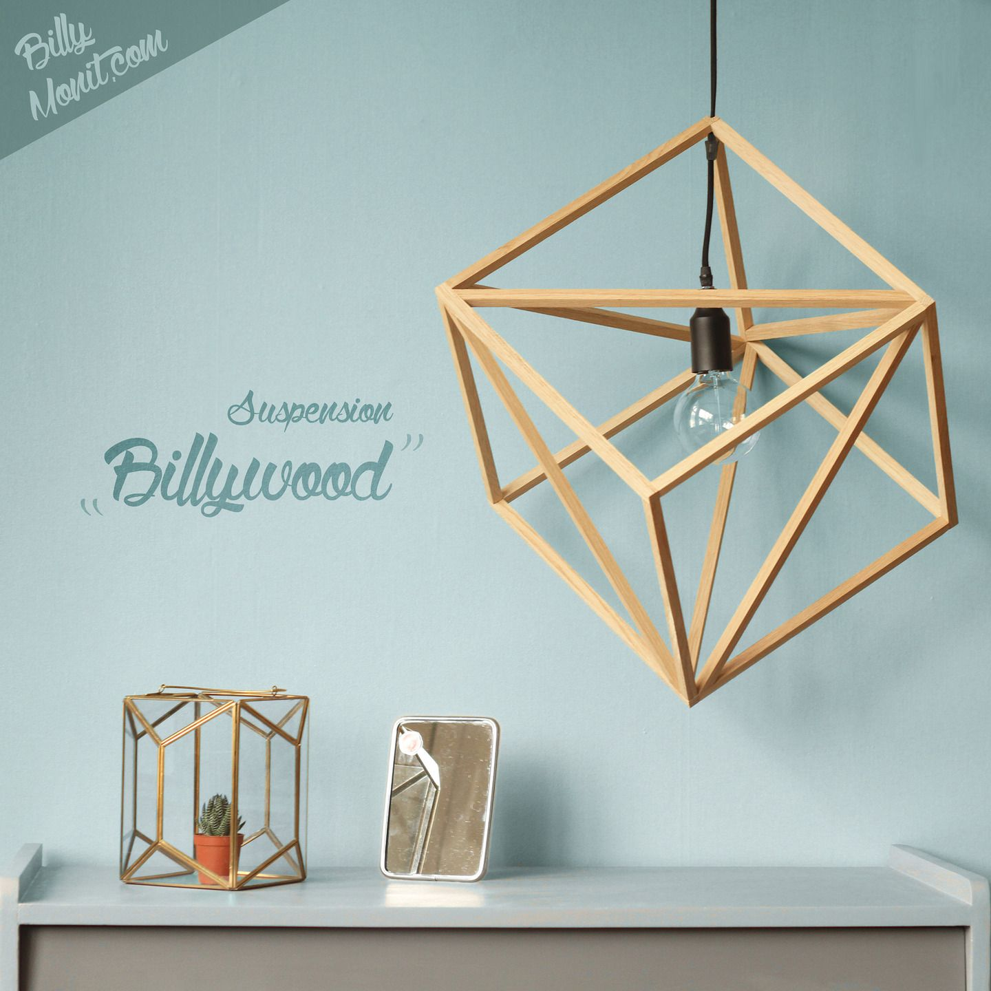 Billywood suspension en bois luminaires par billy for Suspension bois