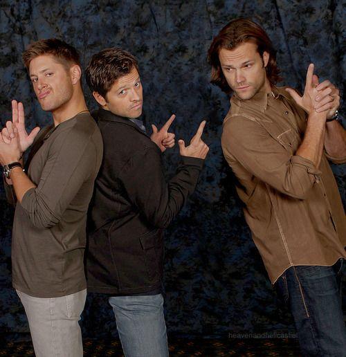 Misha Collins, Jensen Ackles, Jared Padalecki. | Gorgeous ...