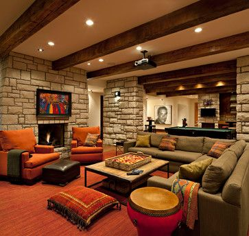 Modern Rustic Retreat In Posthill Family Entertainment Room