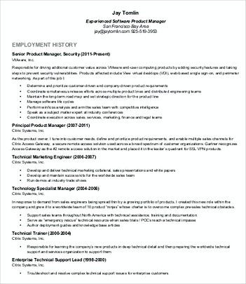 Senior Product Manager Resume  Product Manager Resume Template