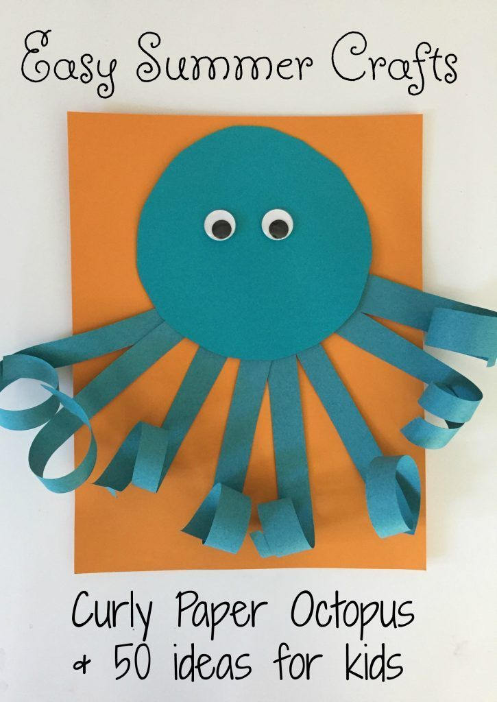 preschool craft ideas for summer easy summer craft for curly paper octopus 7071