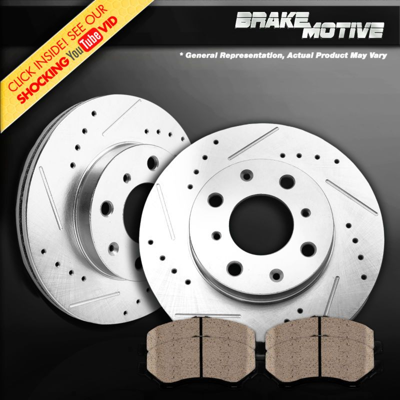 Front Performance Drilled And Slotted Brake Rotors Ceramic Pads Honda Civic Parts Shoes Motors Brakes Accessories Ebay Truck