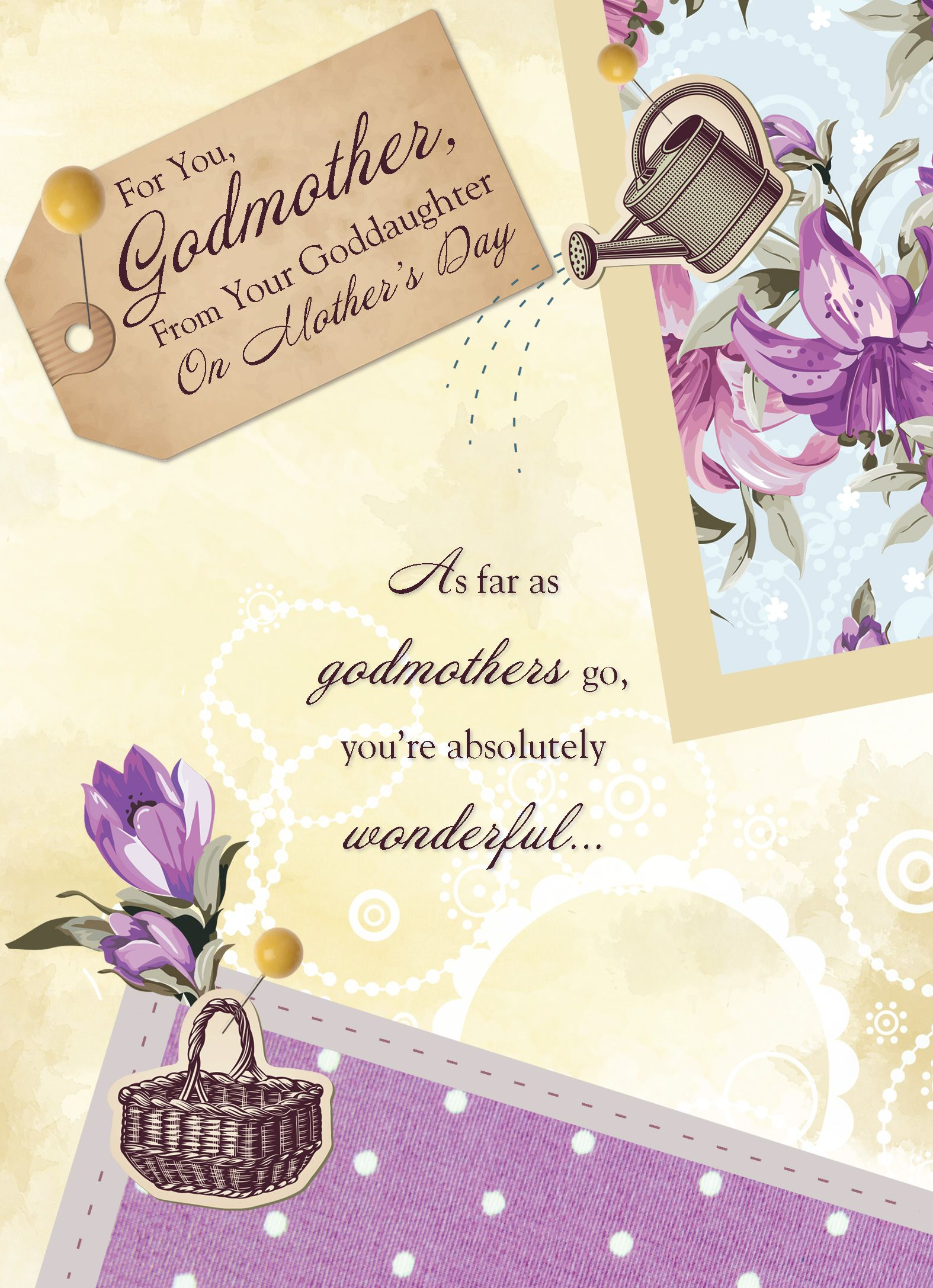 Godmother Mother S Day Cards Mother S Day Greeting Cards Mothers Day Cards Personalized Greeting Cards