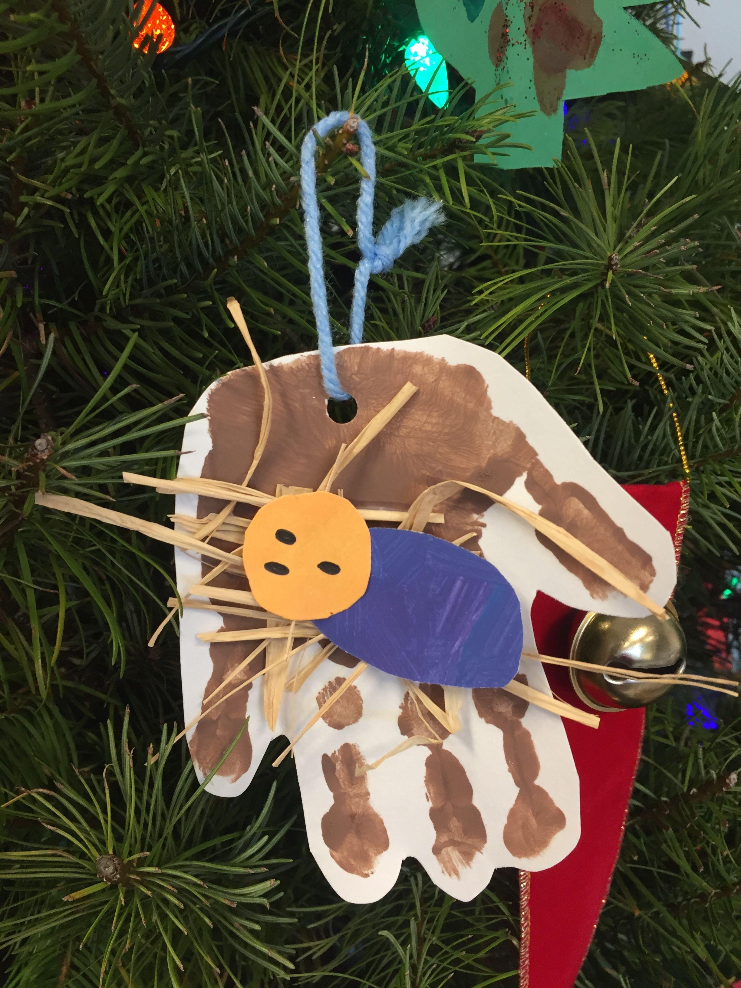 Handprint Christmas Ornaments for preschool. The children made baby ...