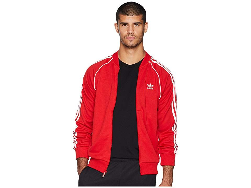 adidas Originals SST Track Top (Collegiate Red) Men's