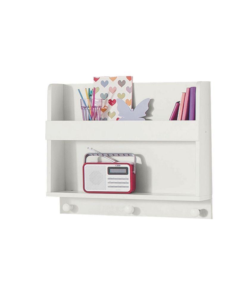 Buy Kids Scandinavia Shelving Display Unit with Hooks - White at ...
