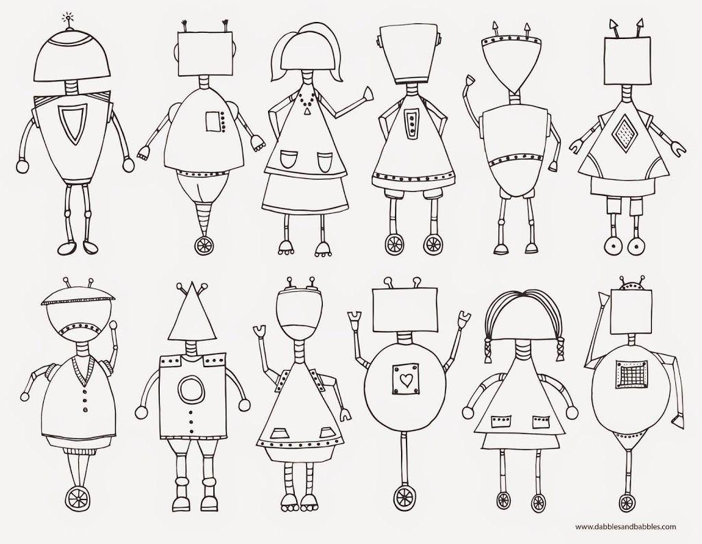 Roboter zum Ausmalen für Kinder für Zwischendurch bei Langweile