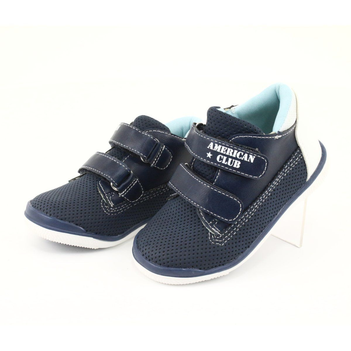 Trzewiki Na Rzep American Club Gc22 Biale Granatowe Baby Shoes Shoes Fashion