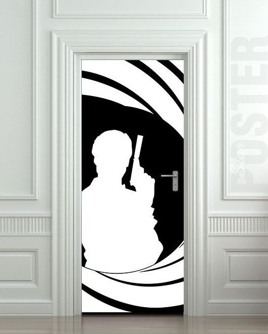 Wall Door Sticker Bond James Agent 007 Spy Skyfall By