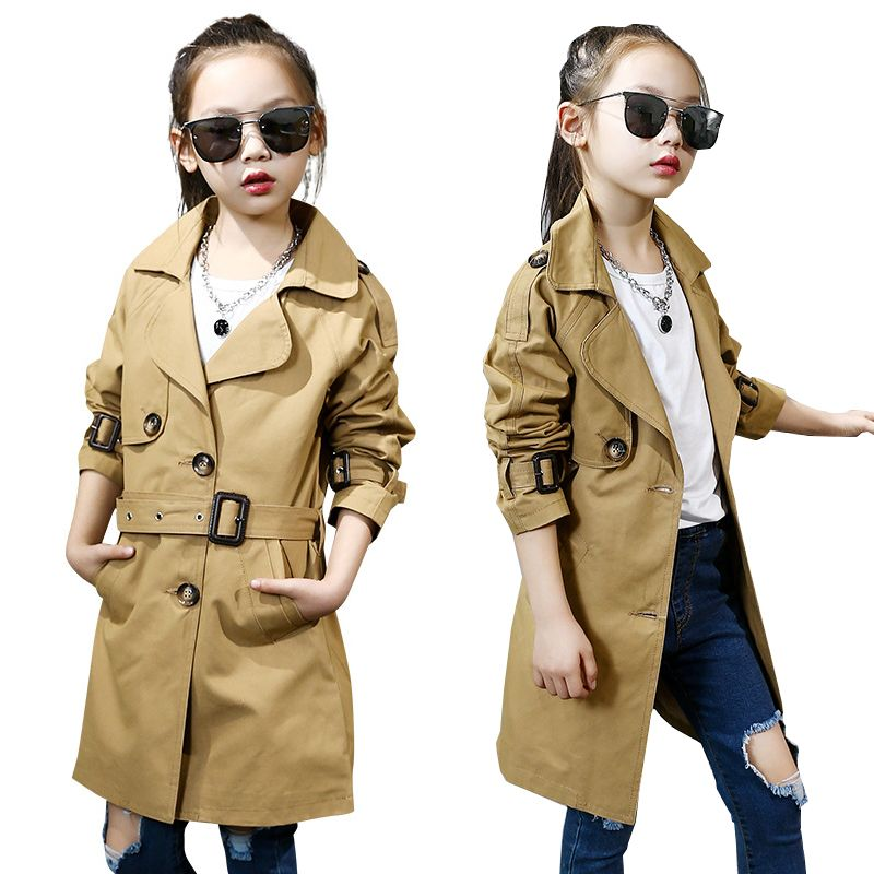 3ed8e7de0ba4 Find More Trench Information about girl trench coat autumn England ...