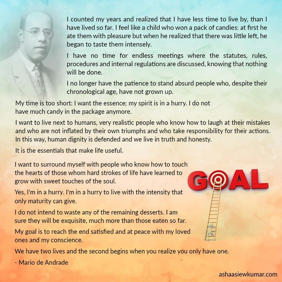 The Valuable Time of Maturity Poem by Mário de Andrade