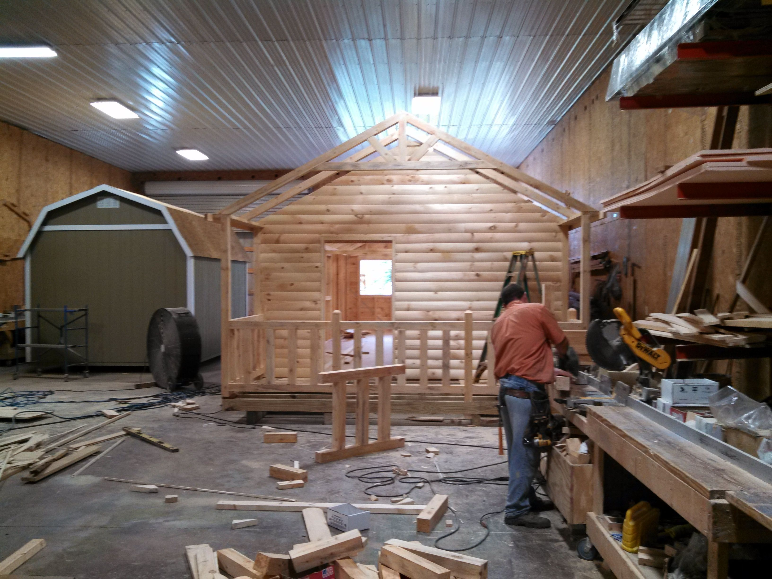 New 42u0027 Cabin Being Built On Location Outside Dickson, Tennessee. This Cabin  Has