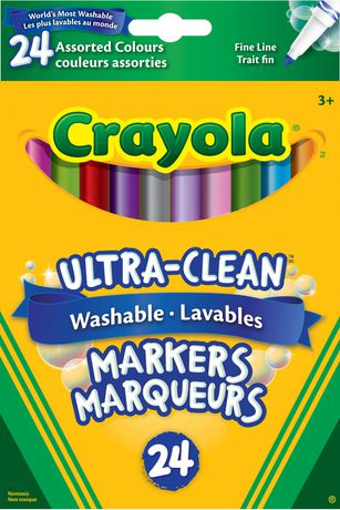 Crayola Ultra Clean Washable Fine Line Markers Assorted Colours