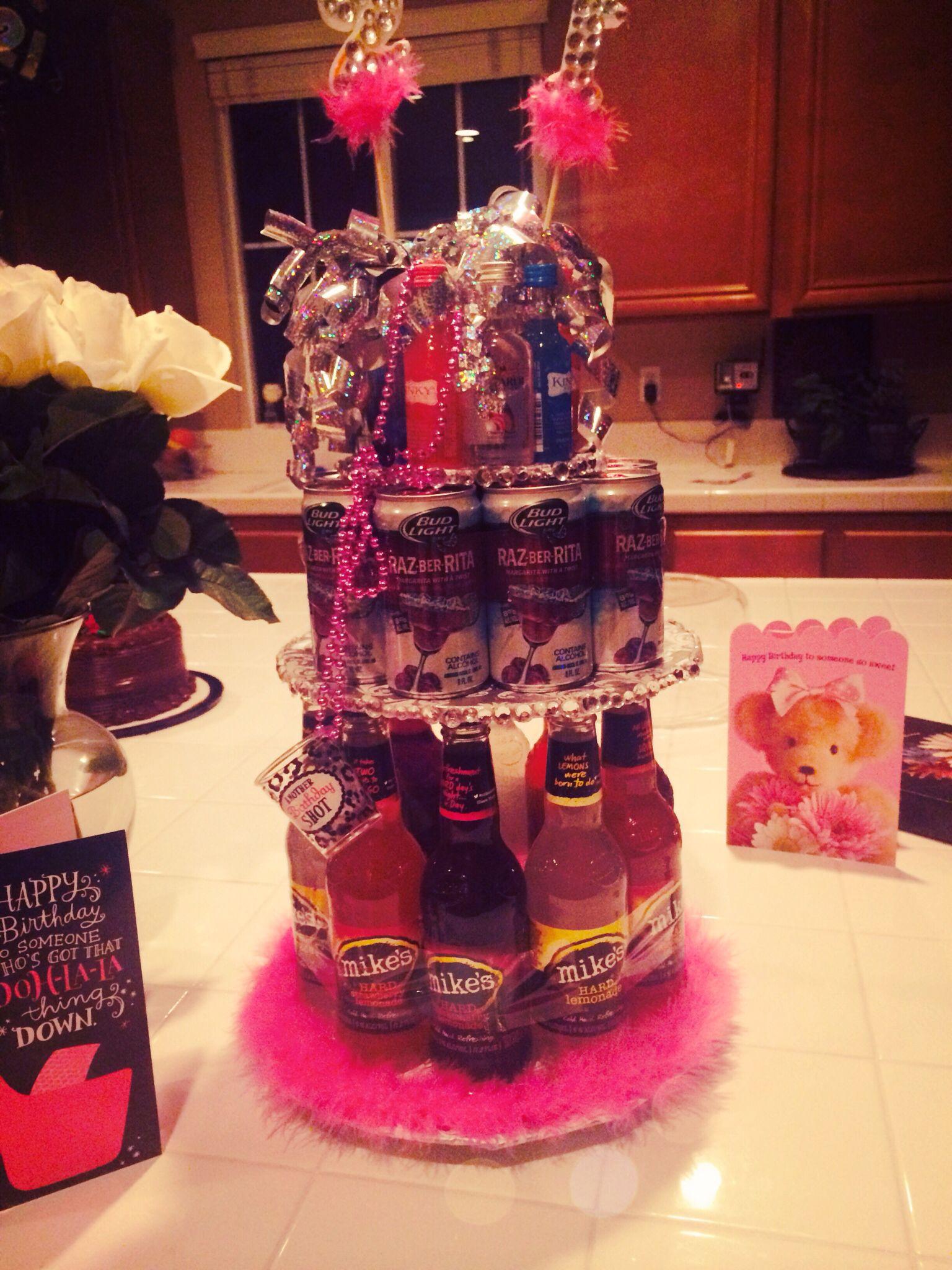 21st birthday cake #21 #alcohol | 21st birthday cakes ...
