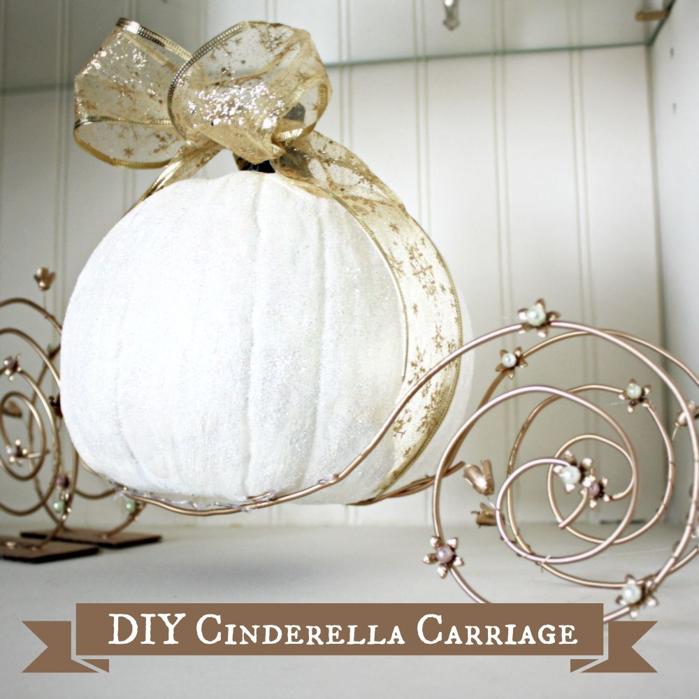 DIY Cinderella Pumpkin Carriage Tutorial | White Cottage Boutique ...