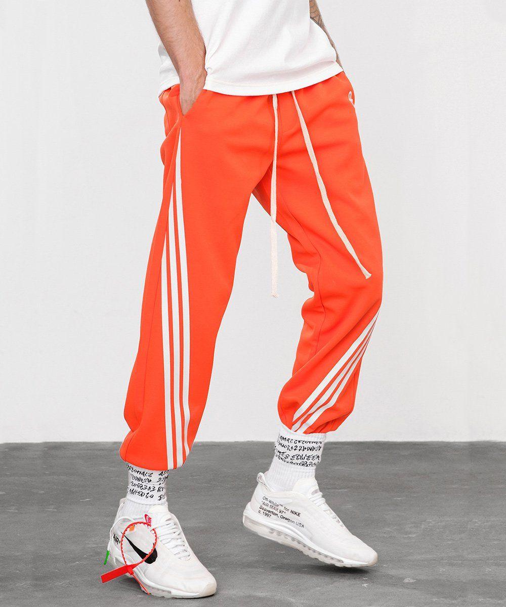UN Track Pants Orange | Orange outfit, Adidas outfit, White