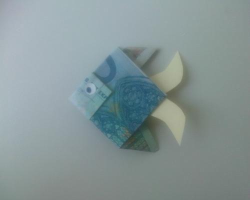 geldgeschenk geldschein zu fisch falten rund um geschenke pinterest geschenke geld und. Black Bedroom Furniture Sets. Home Design Ideas