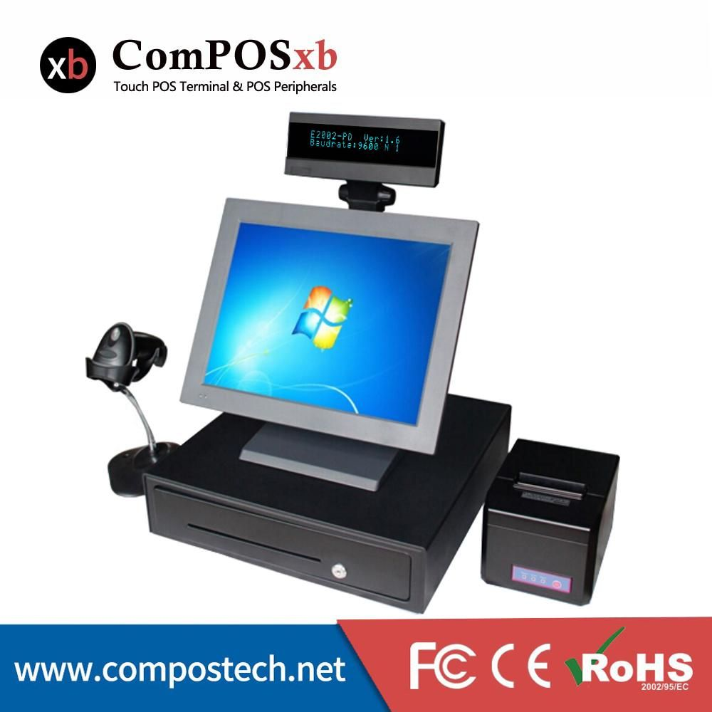 Free Shipping 15 Inch Touch Cash Register Pos System