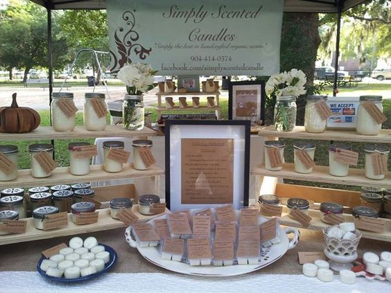 Candle Display Craft Show Google Search Candle Booth Display Candle Displays Candle Store Display