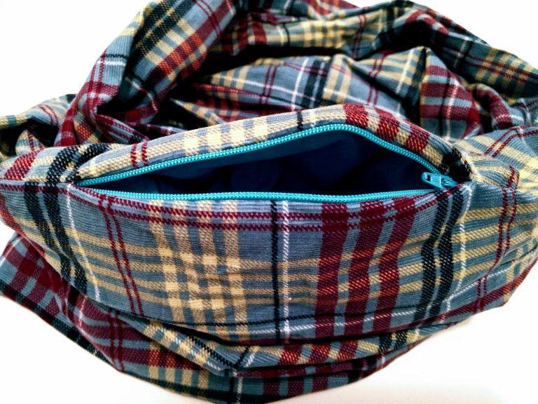 Flannel Hidden Zipper Infinity Scarves | Diy infinity ...