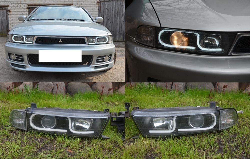 headlights scheinwerfer mitsubishi galant 97 02 day led custom build unbranded mitsubishi galant mitsubishi ford classic cars mitsubishi galant mitsubishi