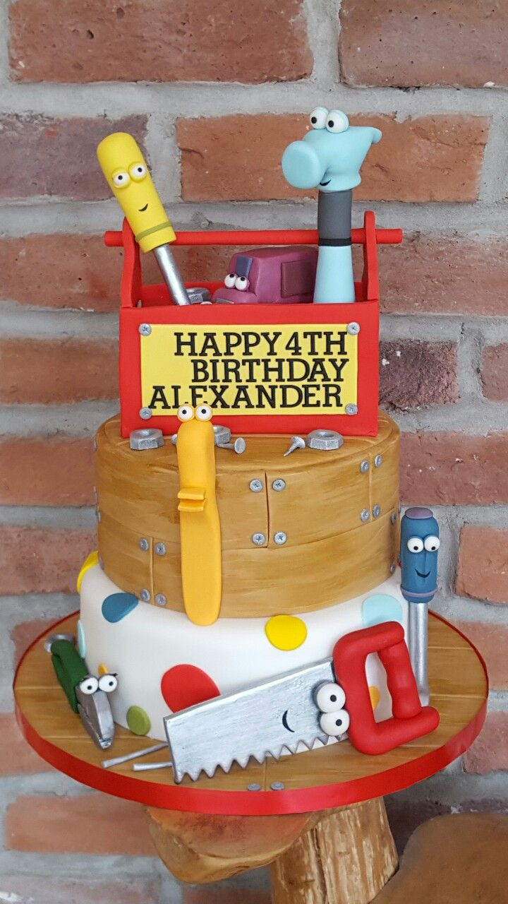 Pleasant Handy Manny Cake With Images Handy Manny Birthday Handy Birthday Cards Printable Inklcafe Filternl