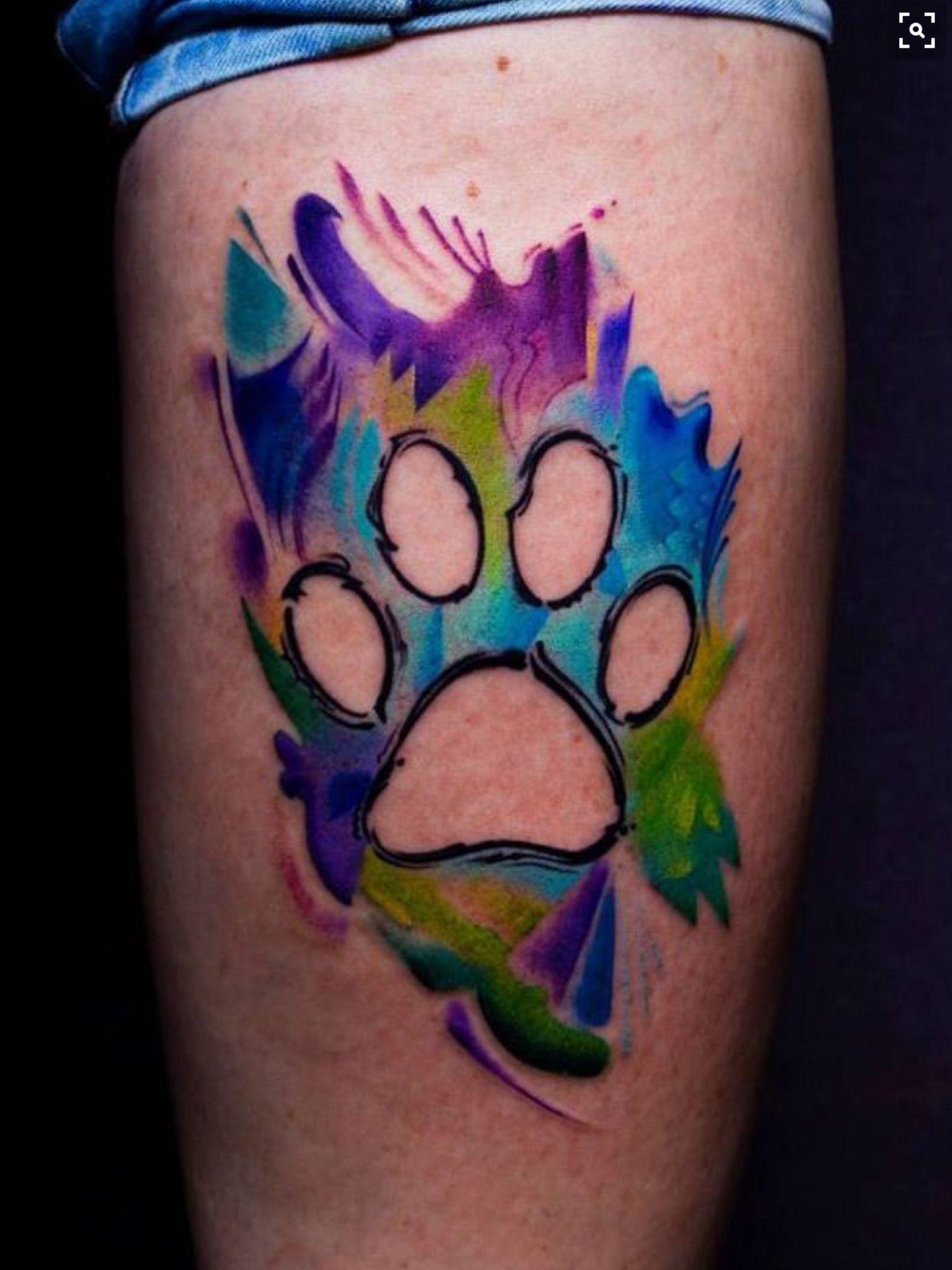 Beautiful Dog paw tattoo, Print tattoos, Dog tattoos