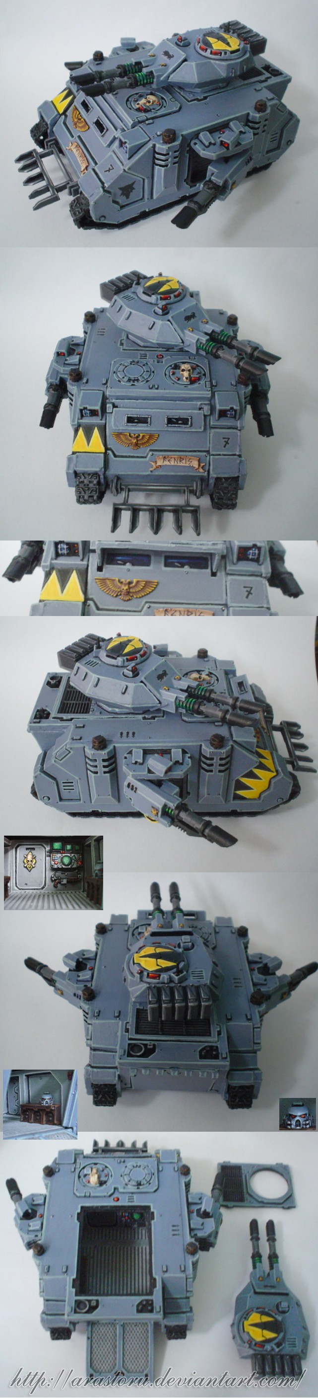 Space Wolves Predator Tank by Arastoru.deviantart.com on @deviantART