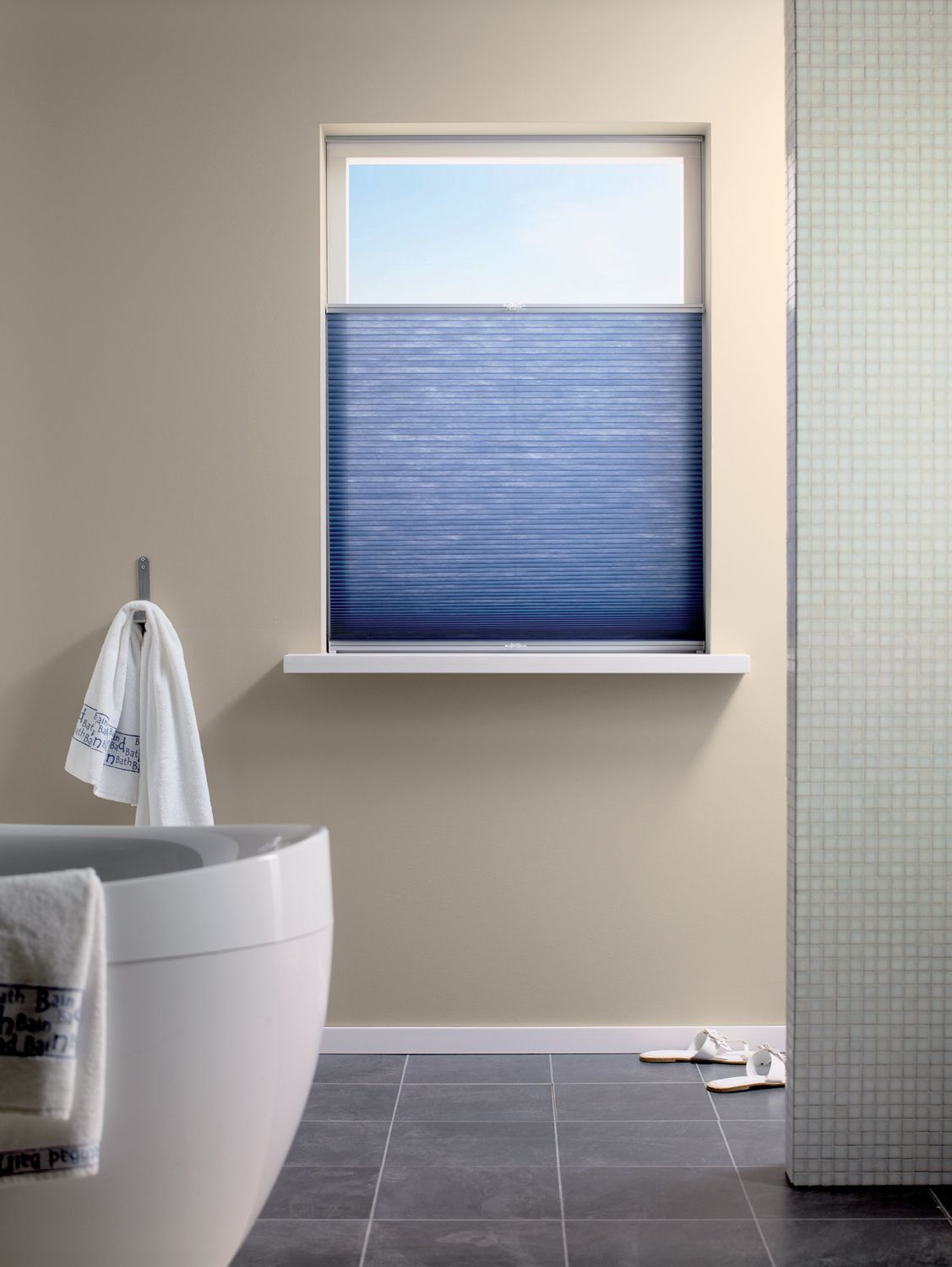 Blue Duette Bathroom Blind From Apollo Blinds Energy Saving Blinds Blue Blinds Bathroom Blinds Contemporary Bathroom Blinds Curtains With Blinds Diy Blinds [ jpg ]