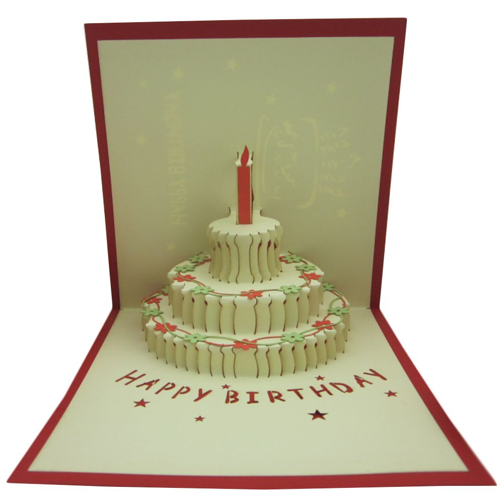 3D Papercraft Pop up Happy Birthday Greeting Cards In Chic World