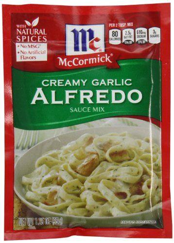 McCormick Pasta Sauce Blend Creamy Garlic Alfredo 125 Ounce ** Check ...
