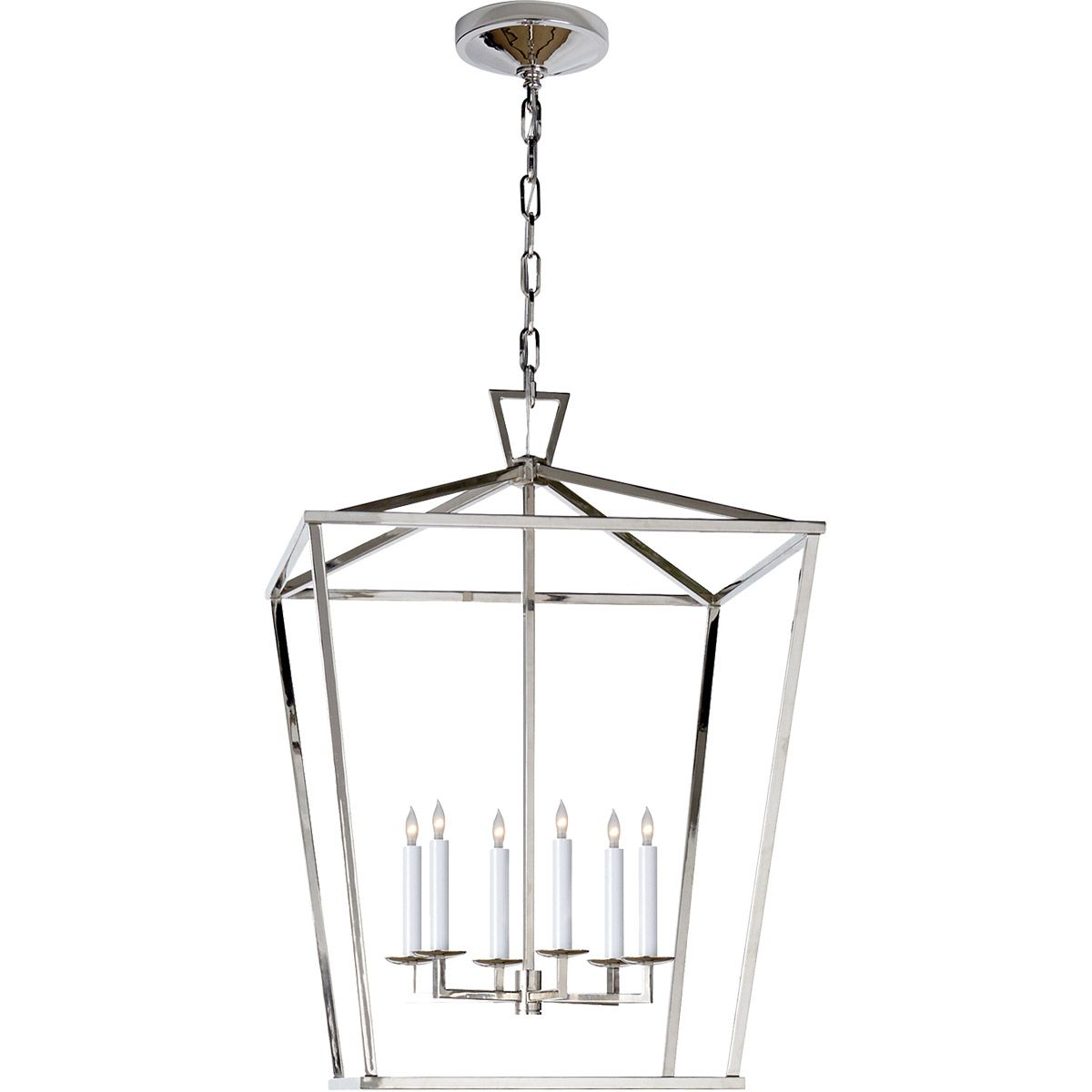 white foyer pendant lighting candle. Visual Comfort E.F. Chapman Darlana 6 Light 24 Inch Polished Nickel Foyer Pendant CHC2176PN White Lighting Candle I
